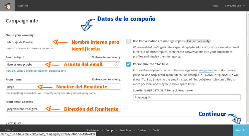 Enviar emails masivos Mailchimp 13