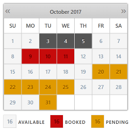 Plugin Booking Calendar