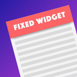 Plugin Q2W3 Fixed Widget