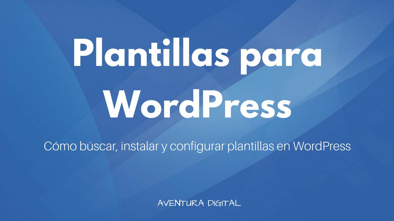 Plantillas para WordPress
