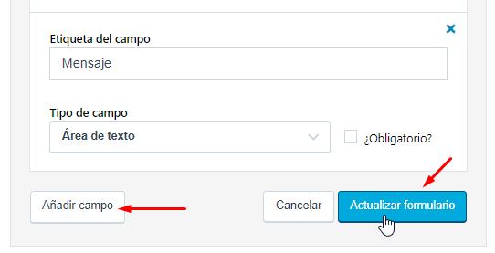 Añadir un nuevo campo al formulario