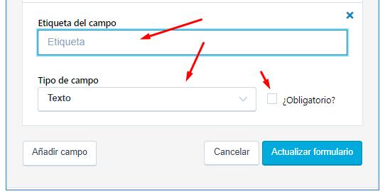Configurar un nuevo campo formulario Jetpack