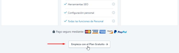 Cómo elegir el plan gratuito de Jetpack