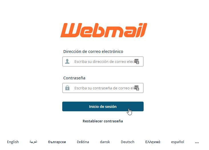 Acceso al webmail de cpanel