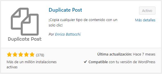 Cómo instalar Duplicate Post