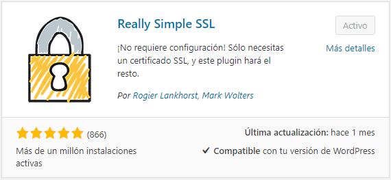 Instalar Really Simple SSL