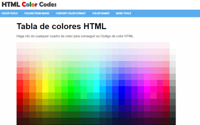 ¿Qué es HTML Color Codes?