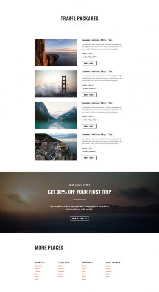 Plantilla WordPress para Agencias de Viajes