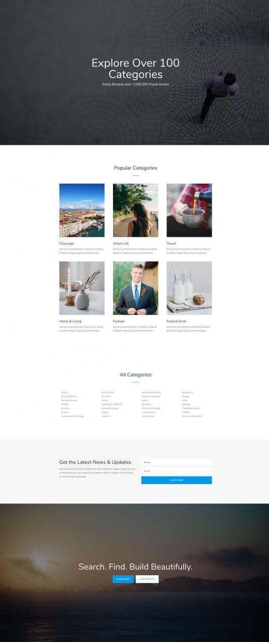 Plantilla WordPress para Venta de Fotografías