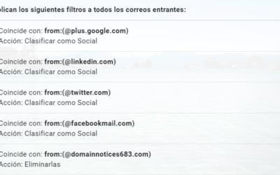 Cómo Usar los Filtros de Gmail