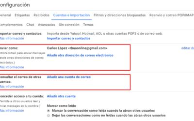Conectar otras cuentas a Gmail
