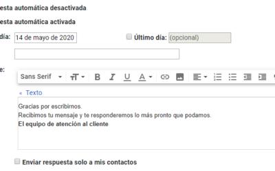 Configurar una respuesta automática en Gmail