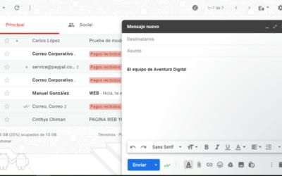Cómo enviar un email con Gmail