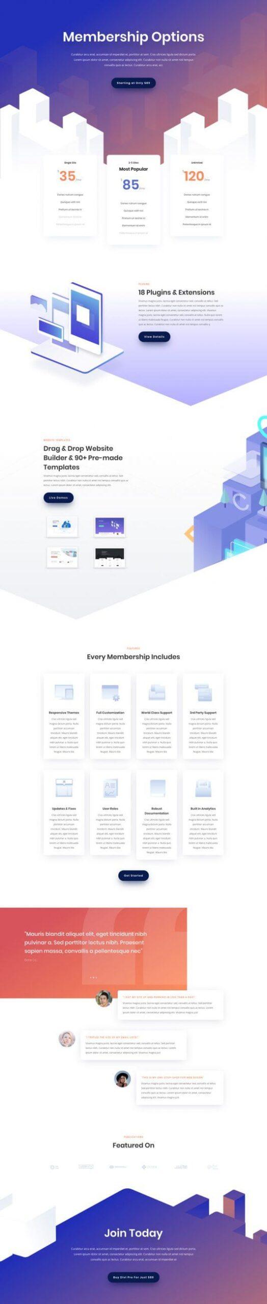 Plantilla WordPress para Productos digitales