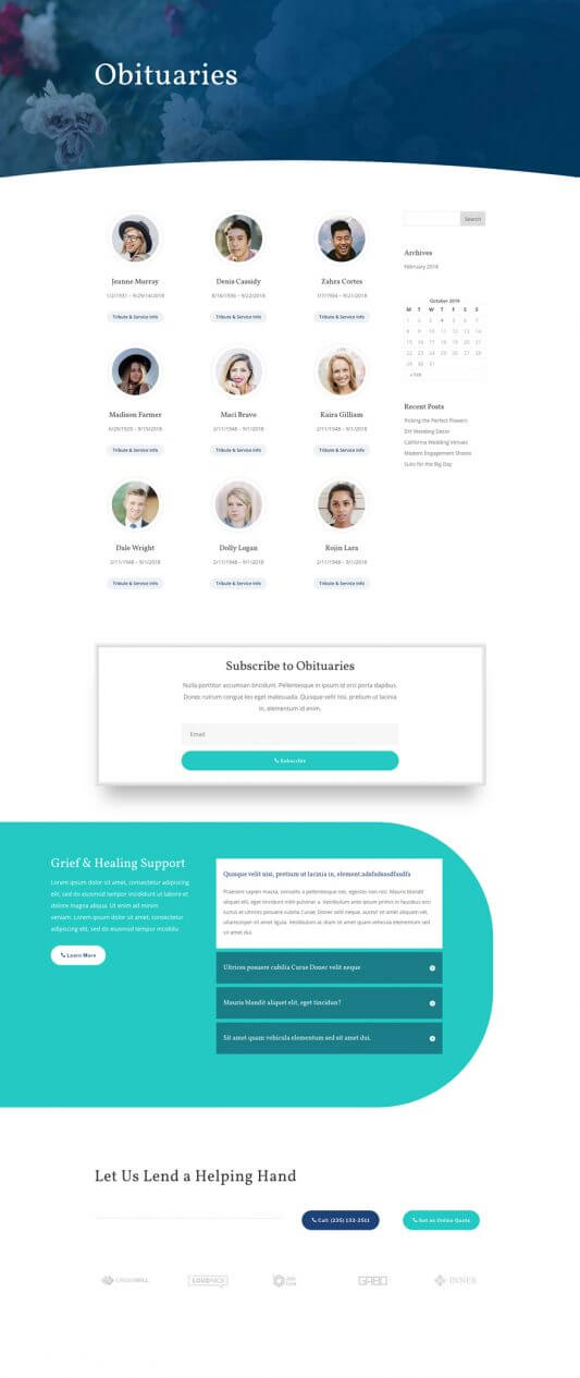 Plantilla WordPress para Funerarias