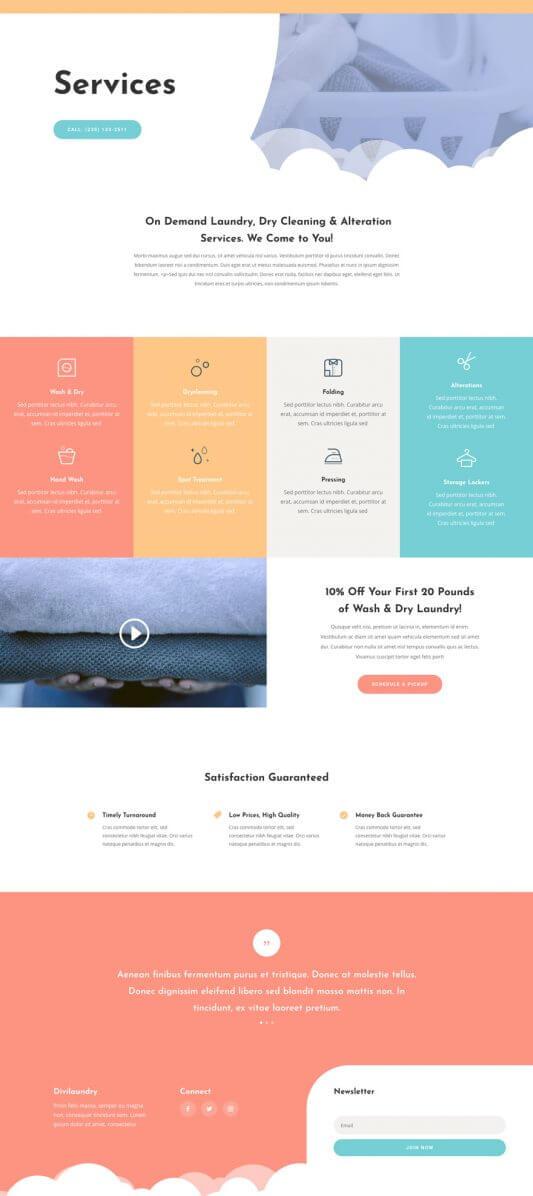 Plantilla WordPress para Lavanderías