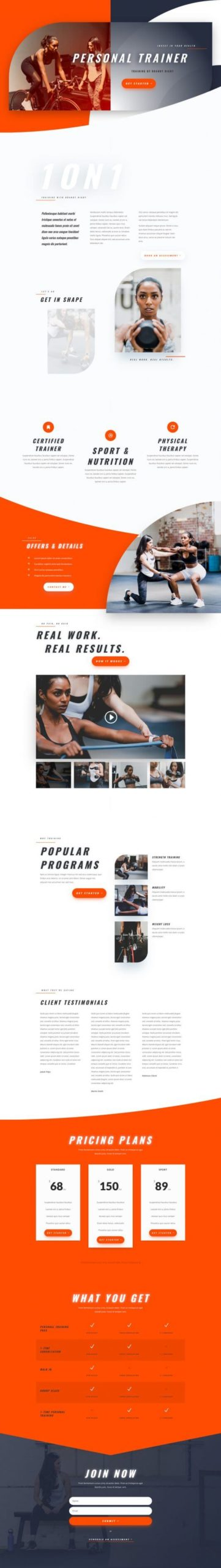 Plantilla WordPress para Personal Trainer