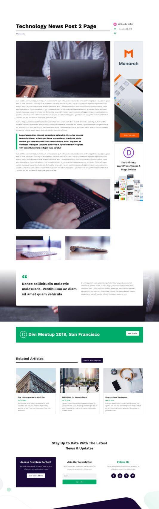 Plantilla WordPress para Blogs de Tecnología