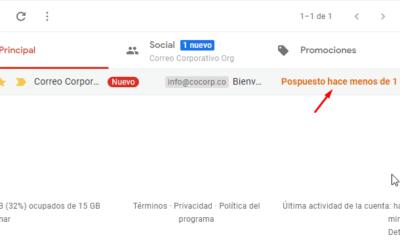 Posponer mensajes con Gmail