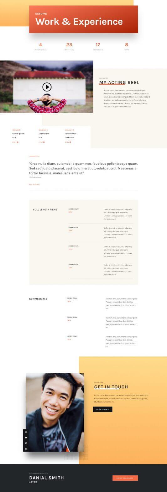 Plantilla WordPress para Actores