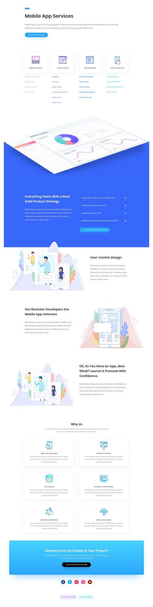 Tema Divi para Desarrollo de aplicaciones
