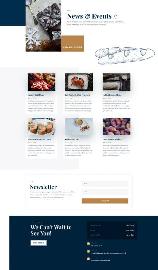 Plantilla WordPress para Bistros