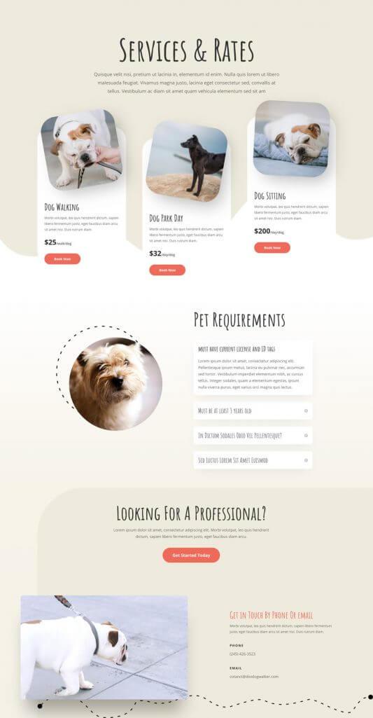 Plantilla WordPress para Paseadores de perros