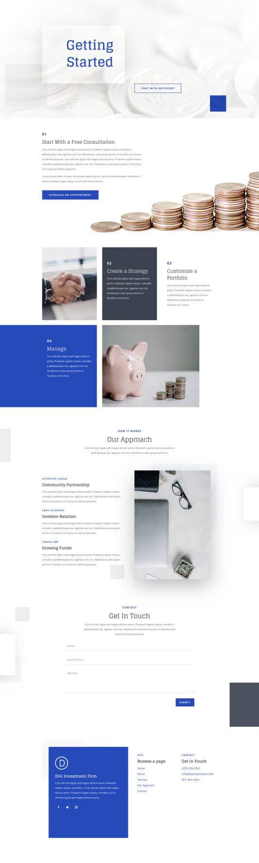 Plantilla WordPress para Compañías de Inversión
