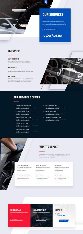 Plantilla WordPress para Talleres Mecánicos