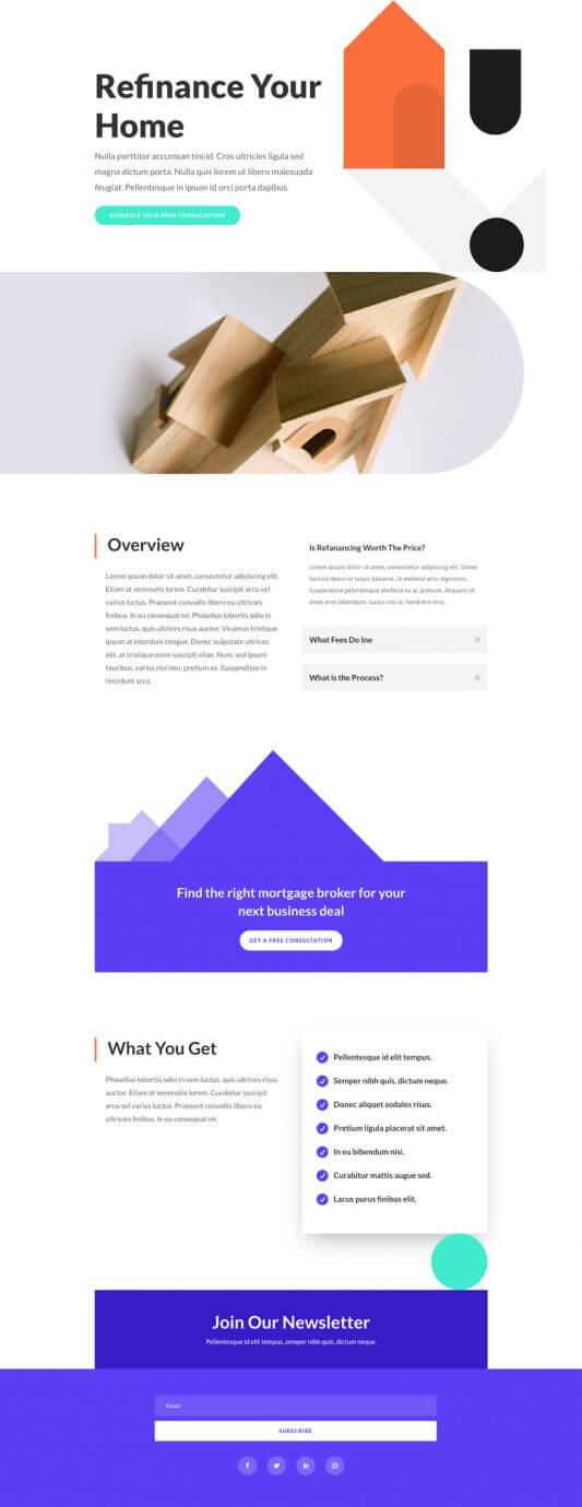 Plantilla WordPress para Agentes hipotecarios