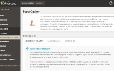 Qué es SuperCacher de SiteGround