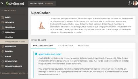 Qué es SuperCacher de SiteGround