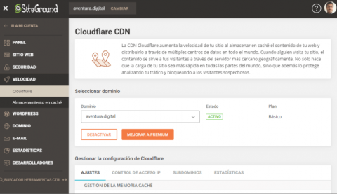 Cómo Activar Cloudflare en SiteGround