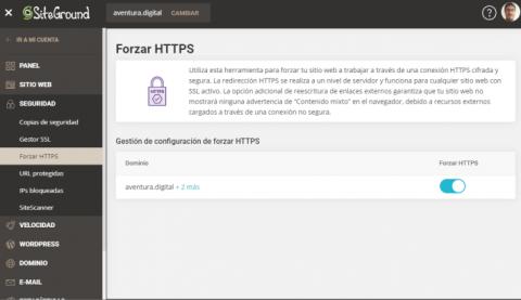 Cómo Forzar HTTPS en SiteGround
