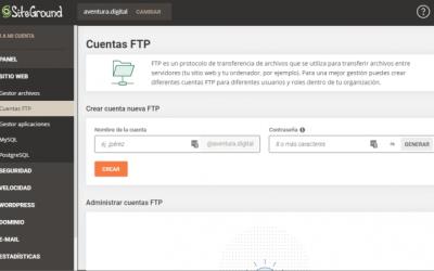 Cómo Usar FTP en SiteGround