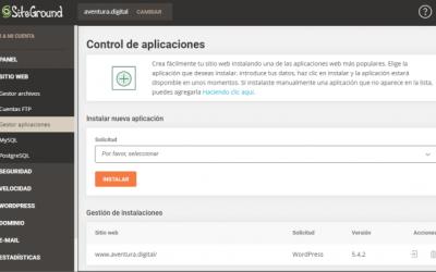 Qué es el Gestor de Aplicaciones de SiteGround