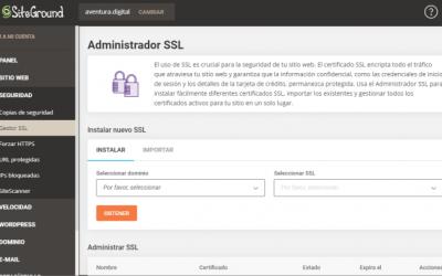 Cómo Instalar SSL en SiteGround