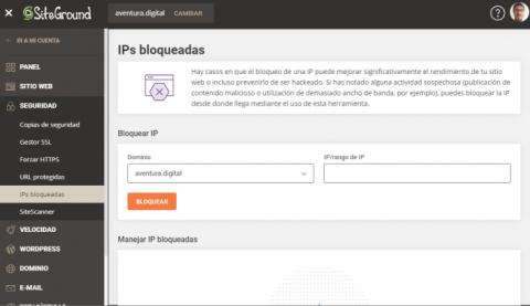 Cómo Bloquear una IP con SiteGround