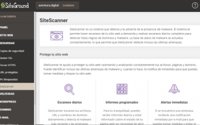 Qué es SiteScanner de SiteGround