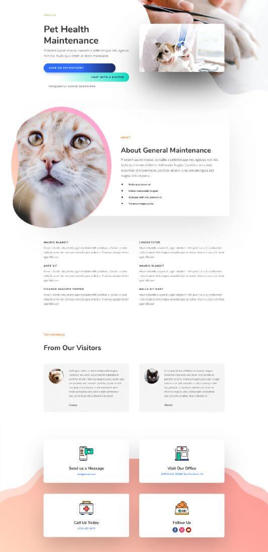 Plantilla WordPress para Veterinarios