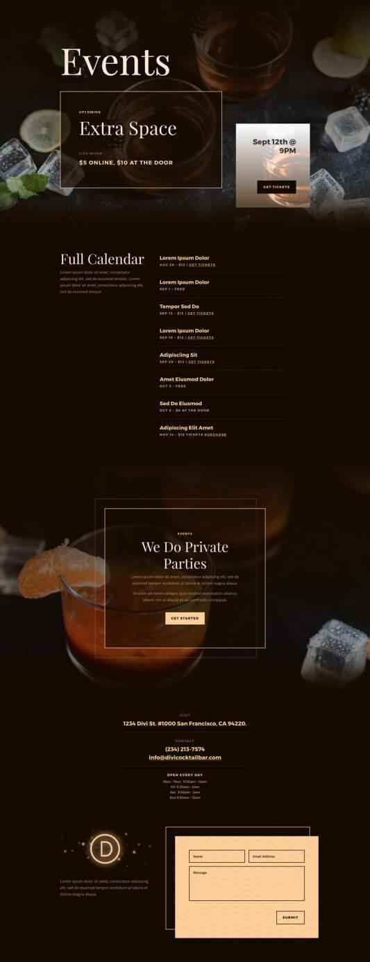 Plantilla WordPress para Bares de coctails