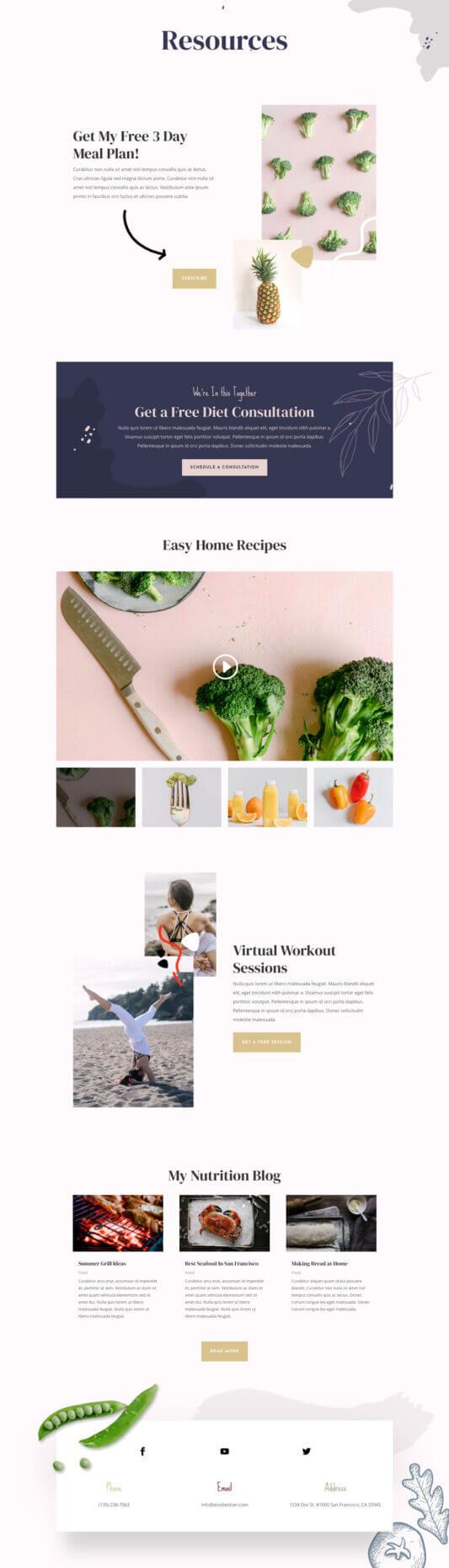 Plantilla WordPress para Sitios sobre dietas