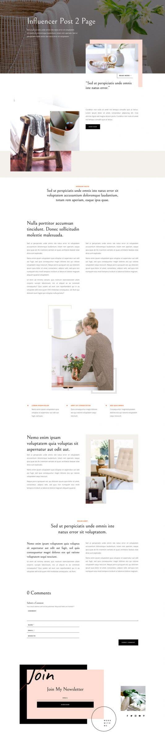 Plantilla WordPress para Influencers
