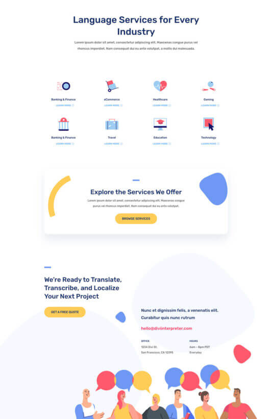 Plantilla WordPress para Traductores