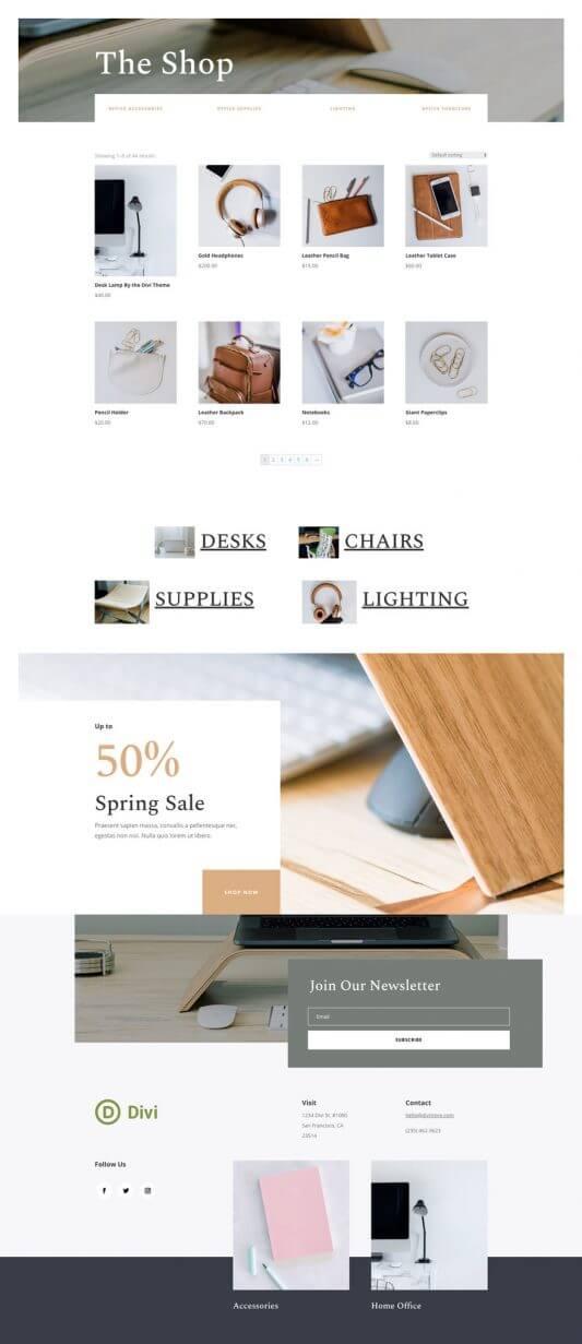Tema Divi para Tiendas online