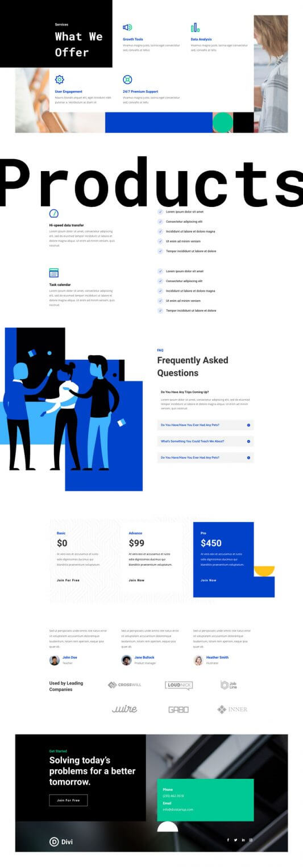 Tema Divi para Startups