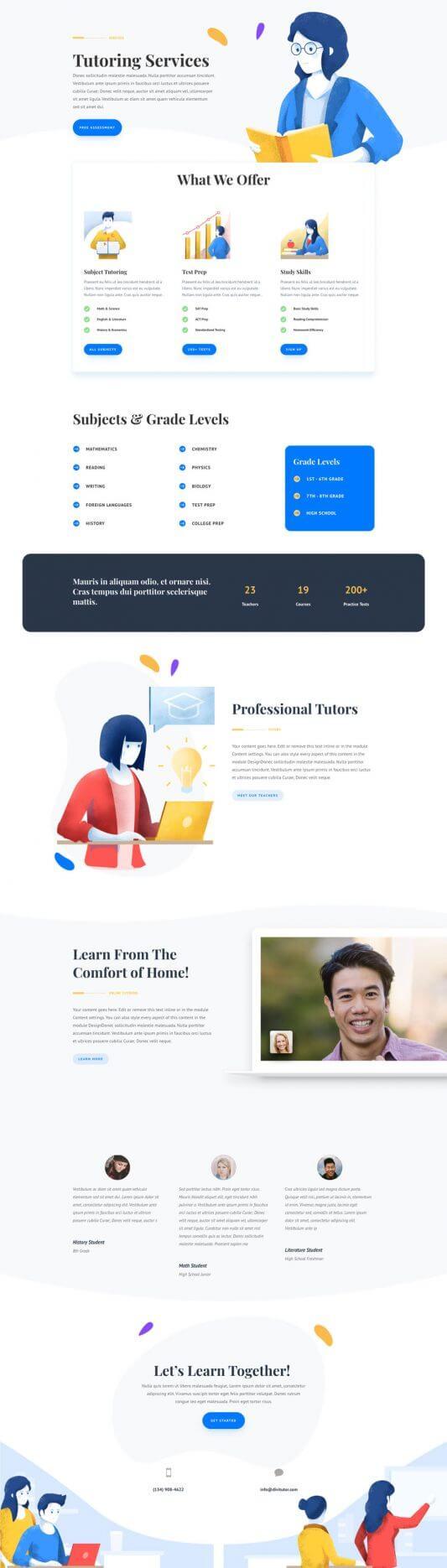 Plantilla WordPress para Escuelas de tutorías
