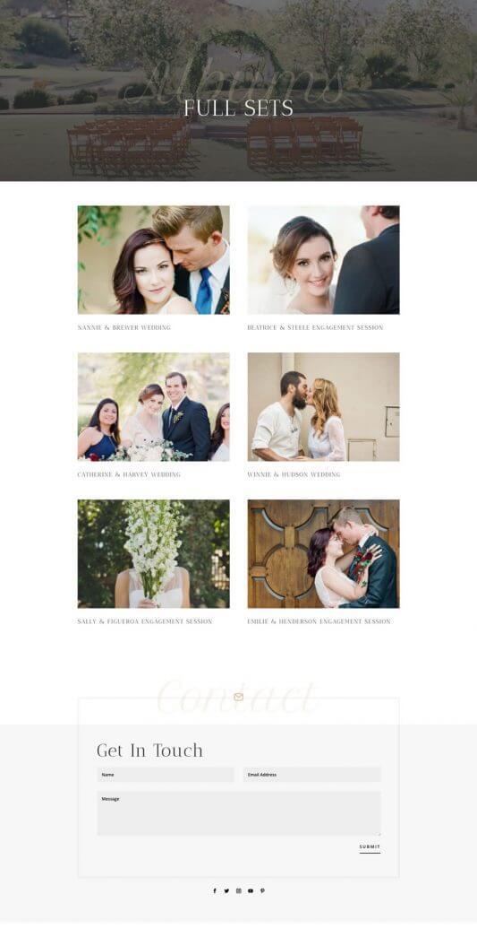 Plantilla WordPress para Fotógrafos de bodas