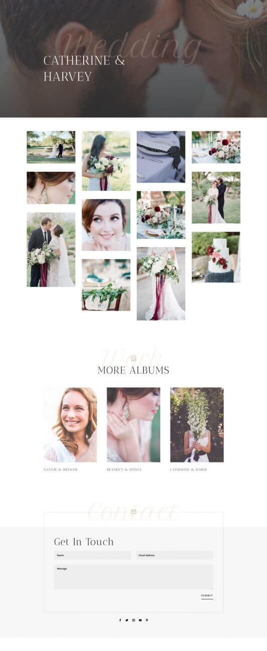 Layout Divi para Fotógrafos de bodas