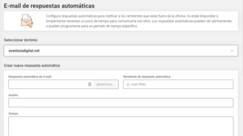 Cómo Configurar Respuestas Automáticas con SiteGround